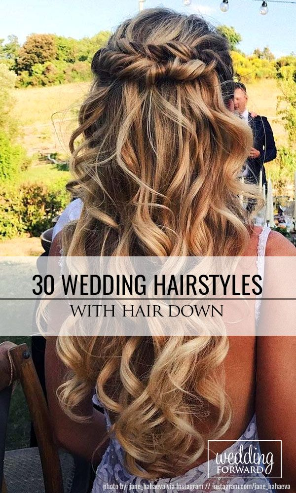 30 Exquisite Wedding Hairstyles With Hair Down ❤ Wedding hairstyles with hair ...
