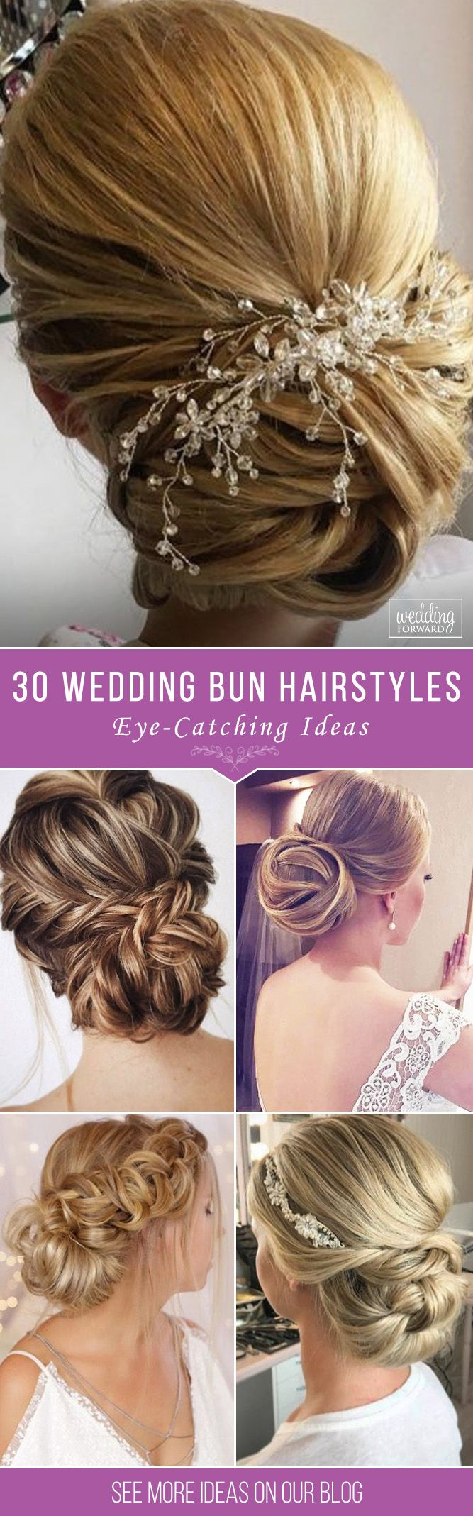 30 Eye-Catching Wedding Bun Hairstyles ❤ Bun hairstyles are the most popular w...