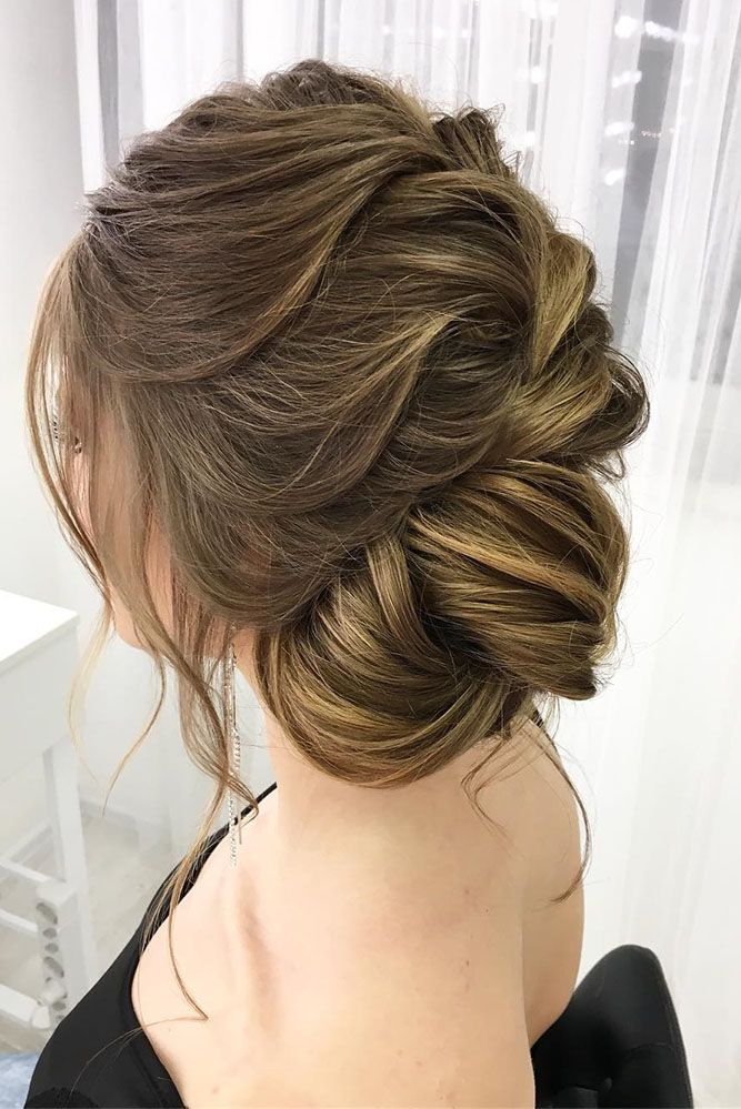 30 Eye-Catching Wedding Bun Hairstyles ❤ wedding bun hairstyles side bun oksan...