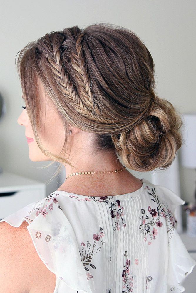30 Graceful Wedding Updos With Braids ❤ wedding updos with braids low chignon ...