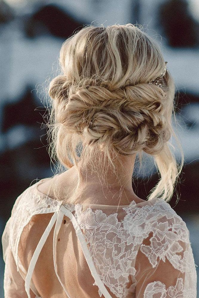 30 Graceful Wedding Updos With Braids ❤ wedding updos with braids the bride in...