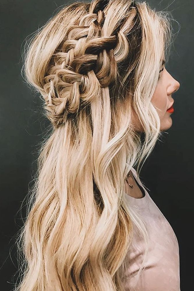30 Overwhelming Boho Wedding Hairstyles ❤ boho wedding hairstyles bohemian bra...