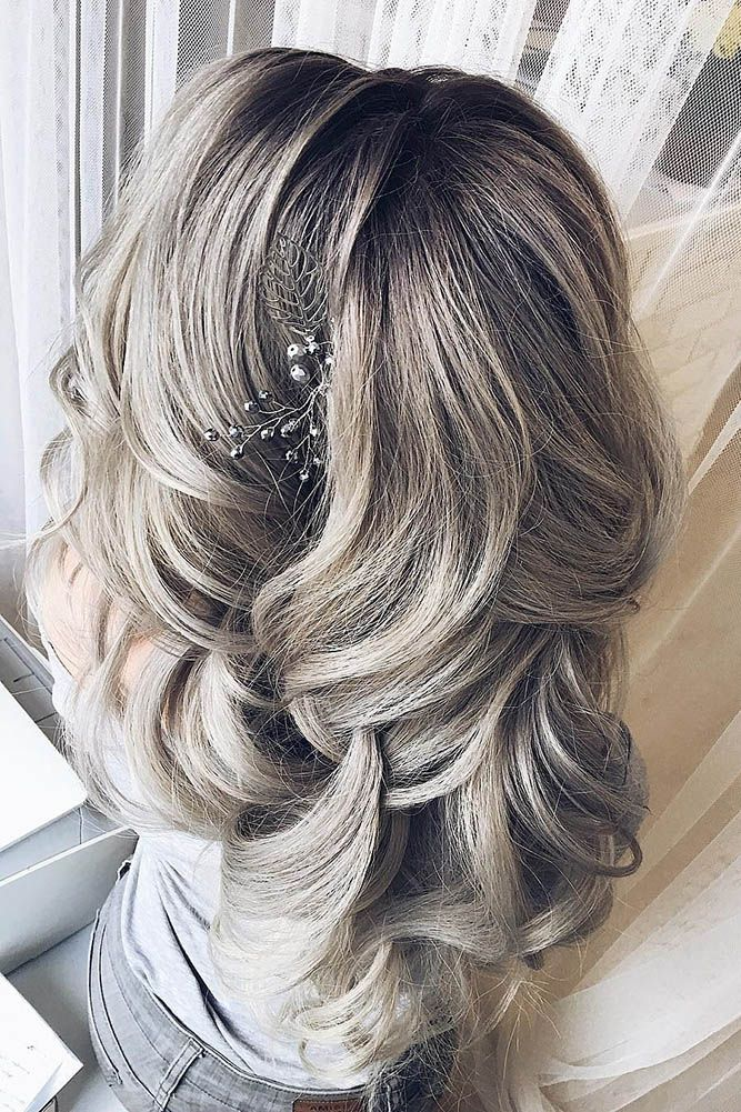 30 Perfect Bridal Hairstyles For Big Day Party ❤ bridal hairstyles grey curls ...