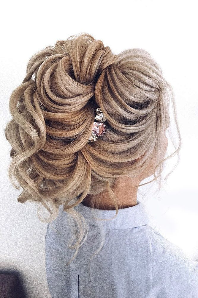 30 Perfect Bridal Hairstyles For Big Day Party ❤ bridal hairstyles high updo b...