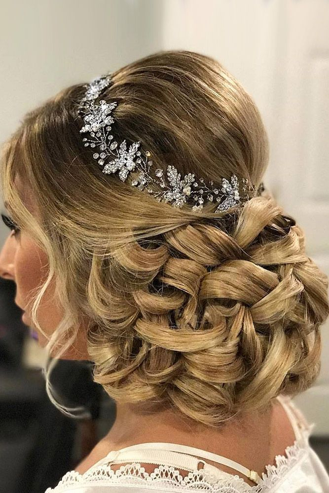 30 Perfect Bridal Hairstyles For Big Day Party ❤ bridal hairstyles low updo wi...
