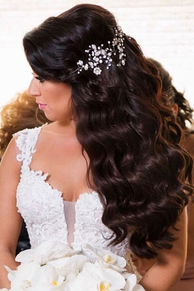 30 Perfect Bridal Hairstyles For Big Day Party ❤ bridal hairstyles thick curls...