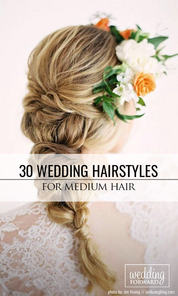 30 Perfect Wedding Hairstyles For Medium Hair  ❤ There is a big variety of wed...
