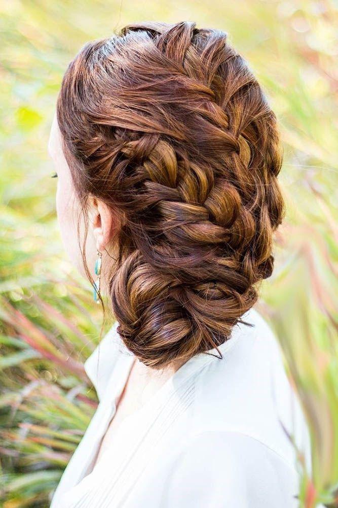 30 Trendy Swept-Back Wedding Hairstyles ❤ swept back wedding hairstyles side b...