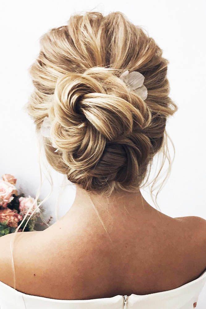 30 Trendy Swept-Back Wedding Hairstyles ❤ swept back wedding hairstyles trendy...