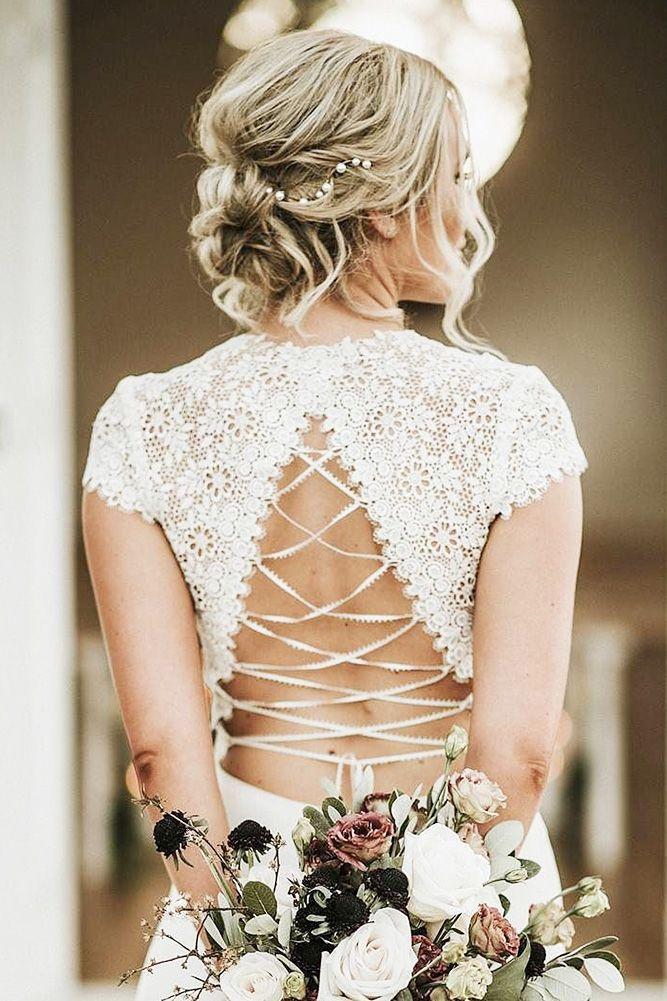 30 Wedding Updos For Short Hair ❤ wedding updos for short hair light curls blo...