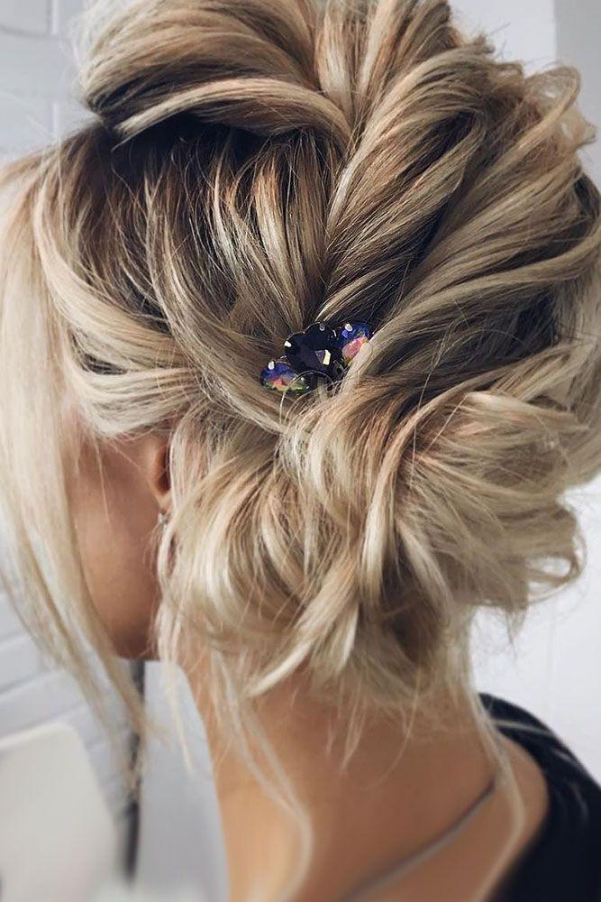 30 Wedding Updos For Short Hair ❤ wedding updos for short hair side updo blond...