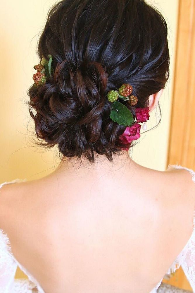 30 Wedding Updos For Short Hair ❤ wedding updos for short hair updo with flowe...