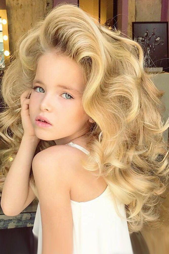 33 Cute Flower Girl Hairstyles ❤ flower girl hairstyles volume curls kykhair ...
