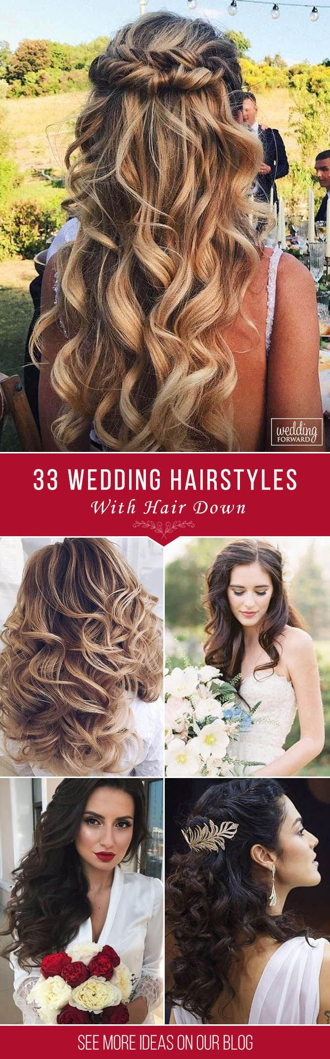 33 Exquisite Wedding Hairstyles With Hair Down ❤ Wedding hairstyles with hair ...