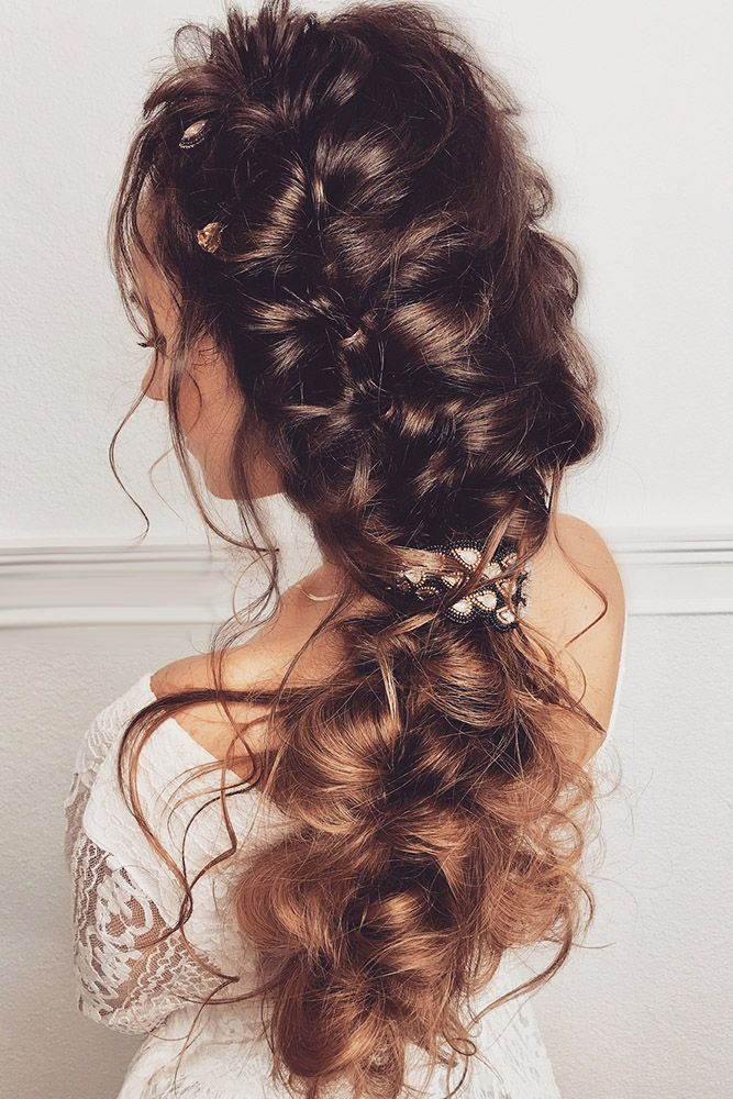33 Oh So Perfect Curly Wedding Hairstyles ❤ curly wedding hairstyles curly bra...