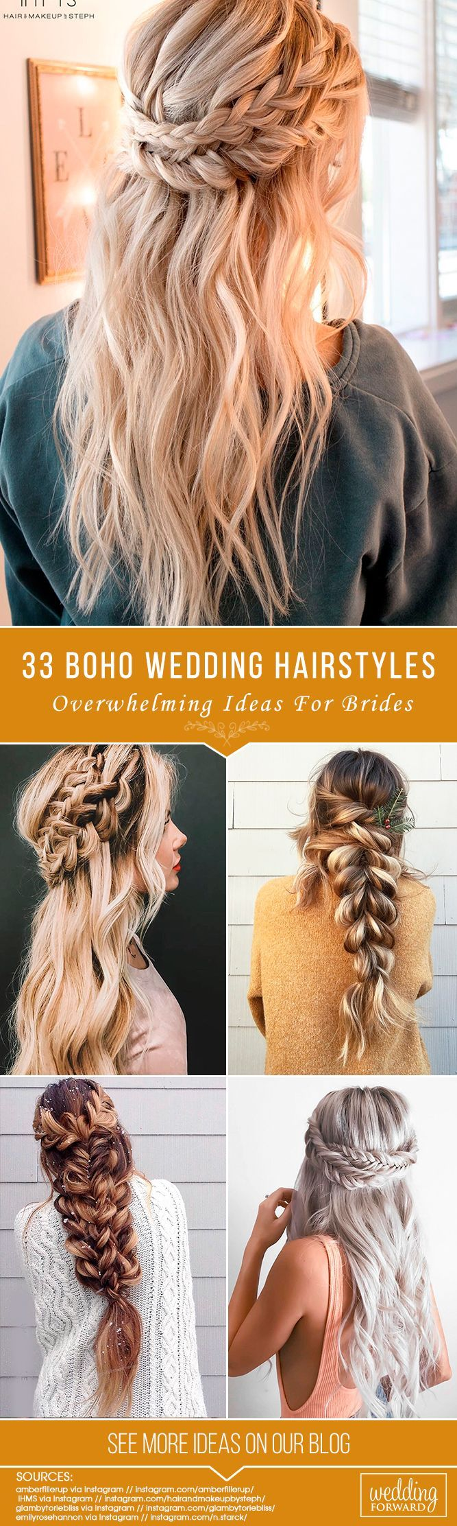 33 Overwhelming Boho Wedding Hairstyles ❤️ Here you will find a plethora of ...
