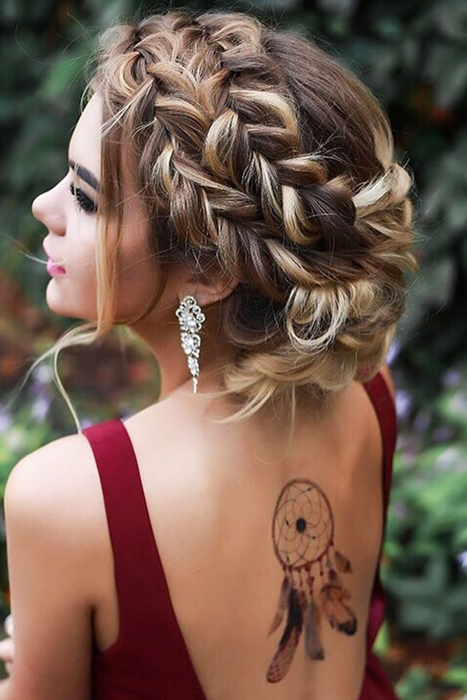 33 Overwhelming Boho Wedding Hairstyles ❤ boho wedding hairstyles braided crow...