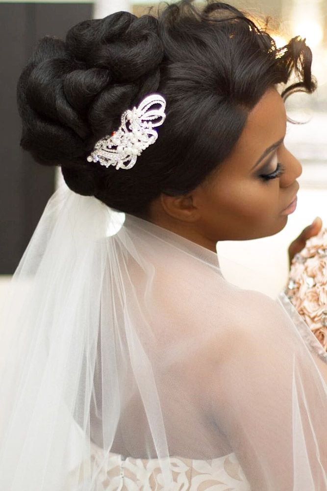 36 Black Women Wedding Hairstyles ❤ black women wedding hairstyles twisted upd...