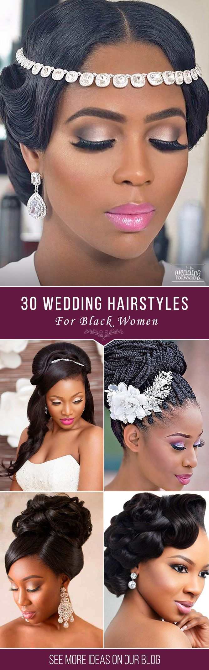 36 Black Women Wedding Hairstyles ❤ It is not a difficult task to pick the sui...