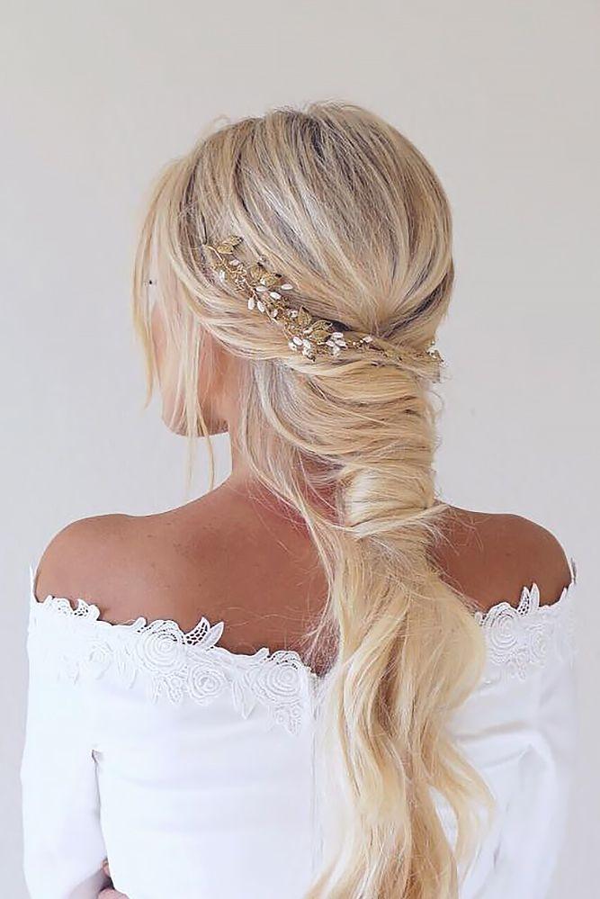 36 Boho Inspired Creative And Unique Wedding Hairstyles ❤️ boho unique weddi...
