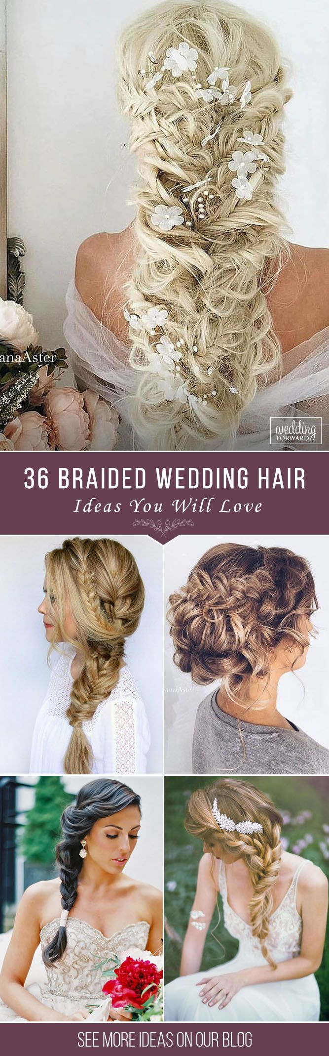 36 Braided Wedding Hair Ideas You Will Love ❤ From soft waves to gorgeous updo...