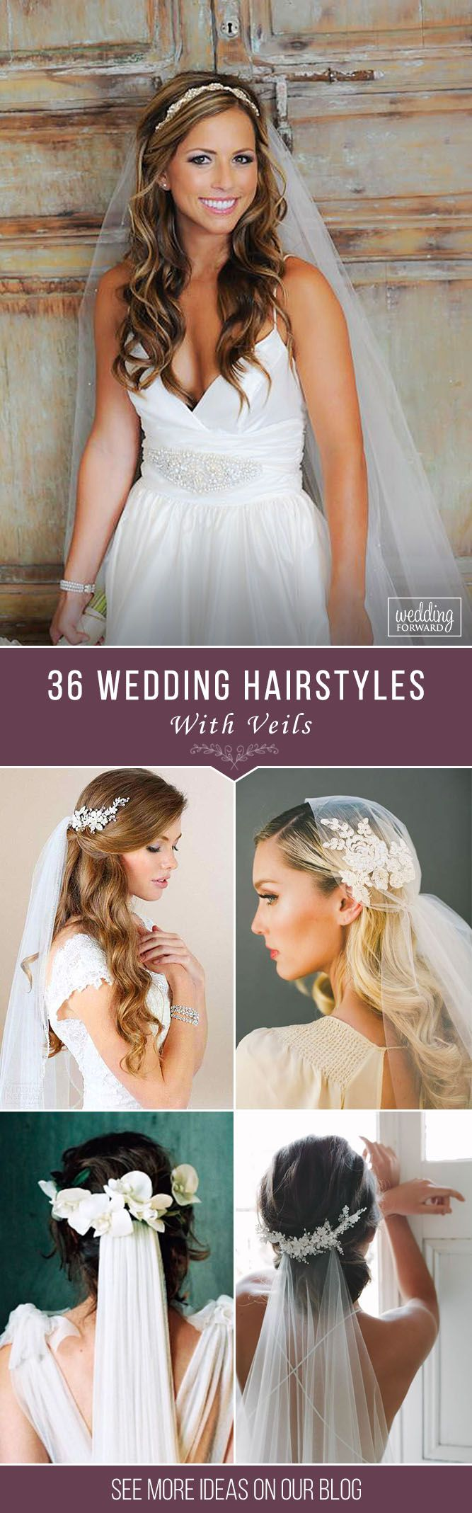 36 Wedding Hairstyles With Veil ❤ We picked up wedding hairstyles with veil fo...