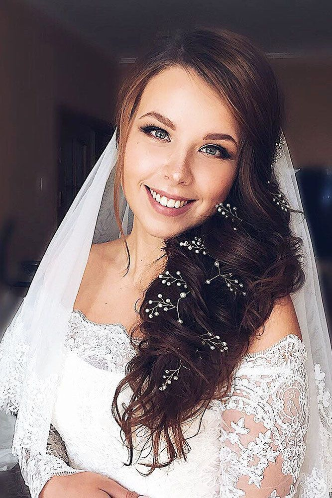 36 Wedding Hairstyles With Veil ❤ wedding hairstyles with veil long braided ha...