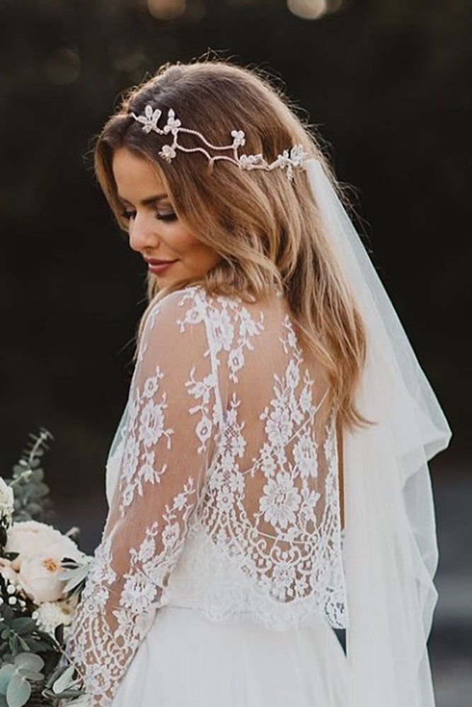 36 Wedding Hairstyles With Veil ❤ wedding hairstyles with veil tender with hal...