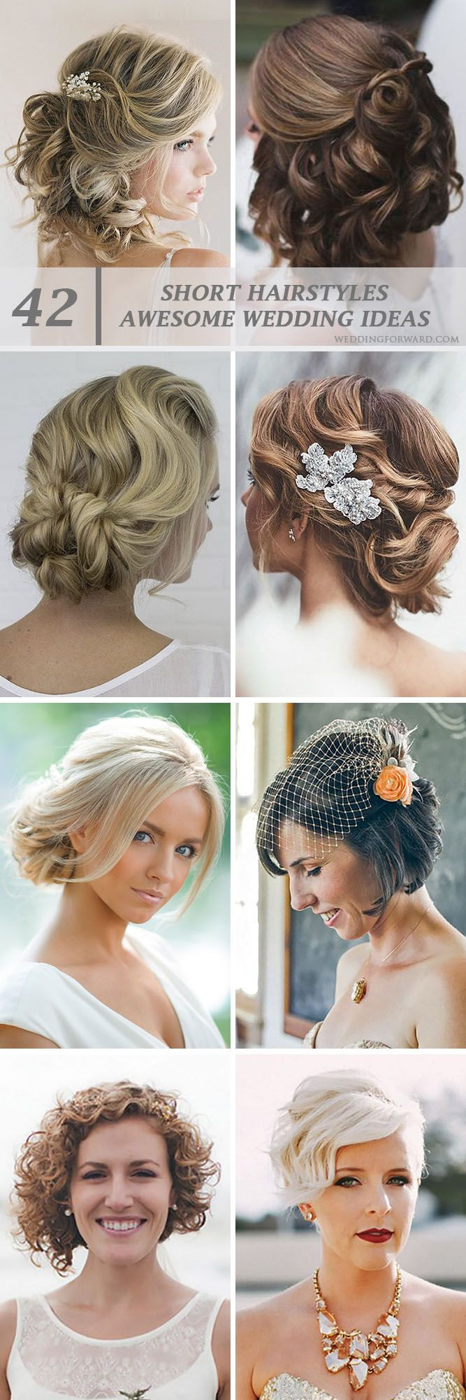 42 Short Wedding Hairstyle Ideas So Good You'd Want To Cut Your Hair ❤ If your...