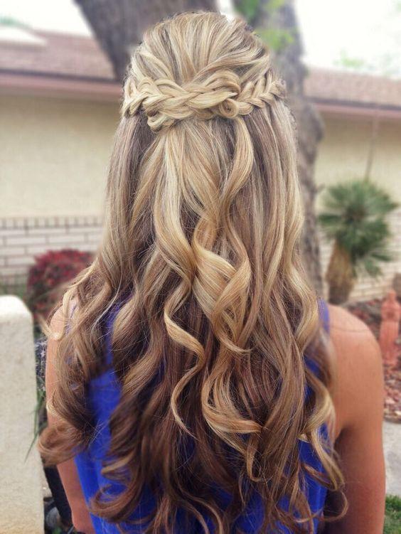 Braided half up half down hairstyles for Wedding & prom - Deer Pearl Flowers / w...