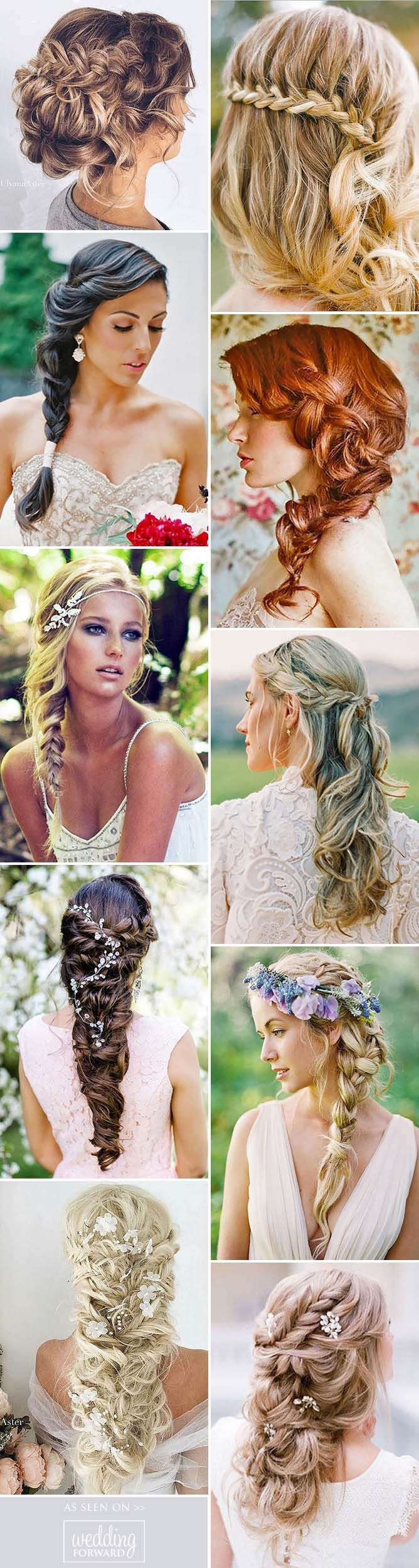 Braided Wedding Hair Ideas You Will Love ❤ From soft waves to gorgeous wedding...