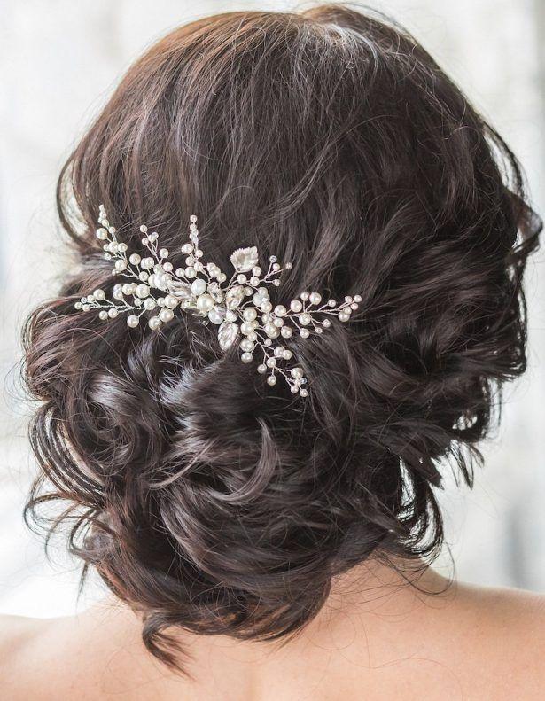 Bridal Hair Comb with Swarovski Pearls Bridal Headpiece Bridal Hair Piece