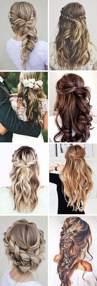 half up half down bridal hairstyles - Deer Pearl Flowers / www.deerpearlflow...