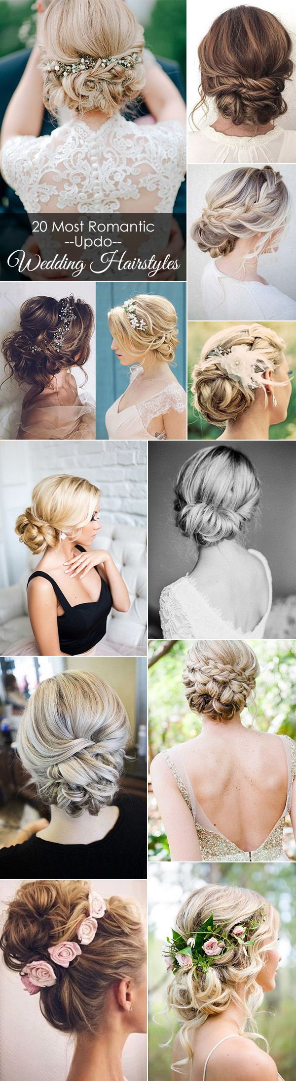 20 most romantic updo wedding hairstyles