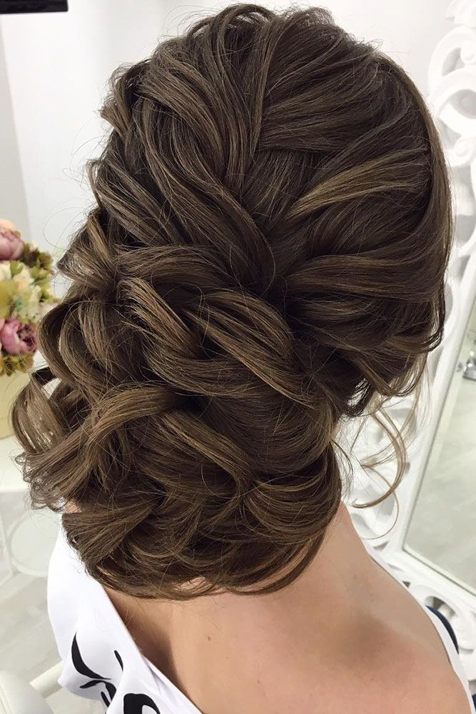 30 Enchanting Wedding Updos ❤ wedding updos voluminious dark haired oksana ser...