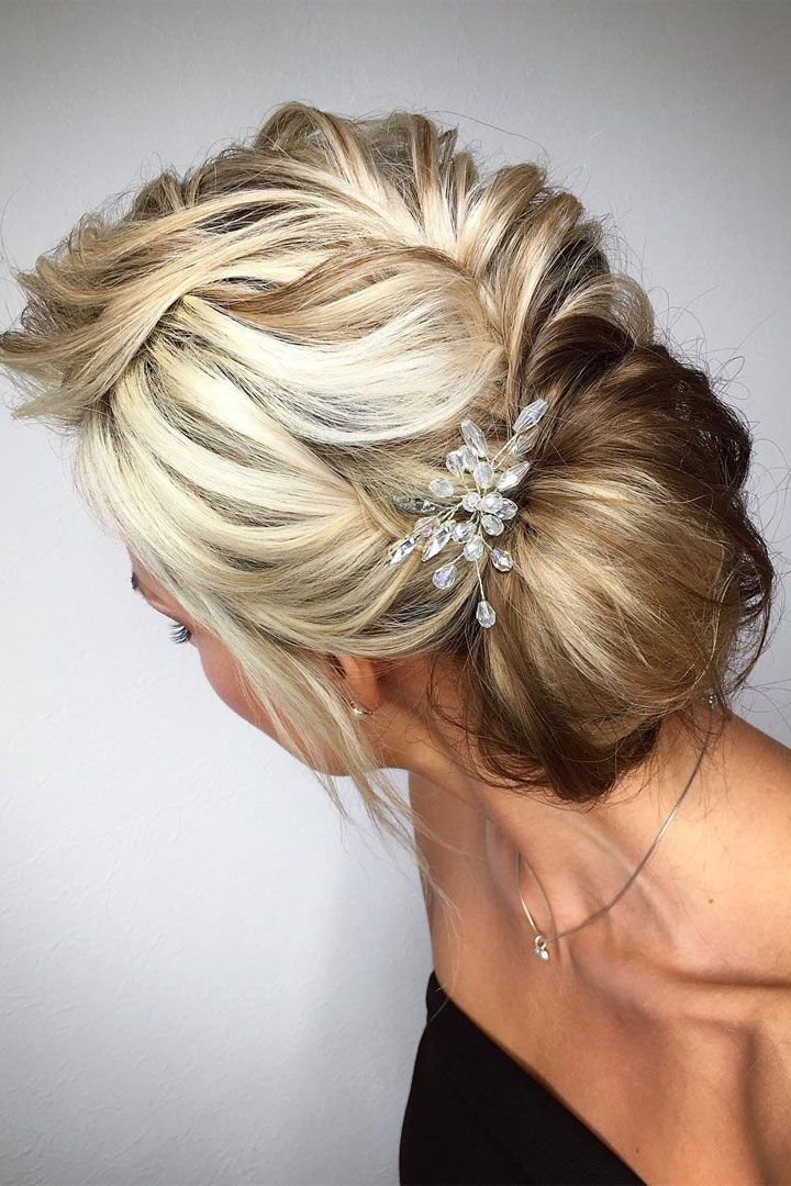 Beautiful updo wedding hairstyle idea - wedding hair ,hairstyle ,updo ,messy upd...