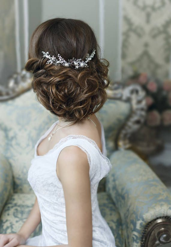Bridal hair accessories Crystal Bridal headpiece Wedding hair piece Bridal hair ...