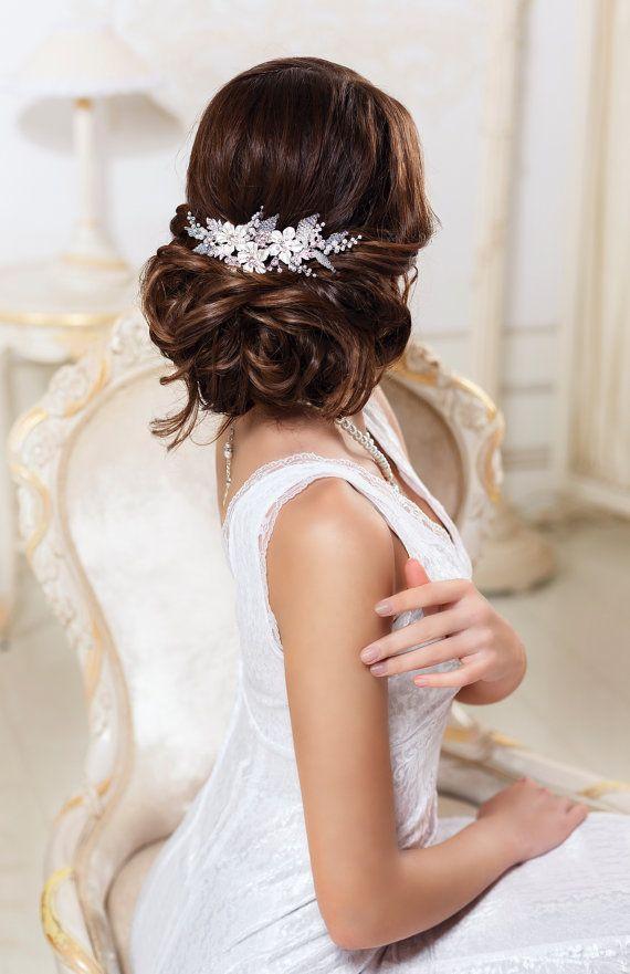 Bridal hair comb Wedding hair comb Bridal by SenceOfBeauty on Etsy