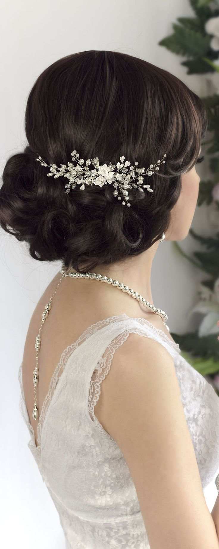 Bridal hair comb, wedding headpiece, bridal hair accessories. Handmade wedding p...