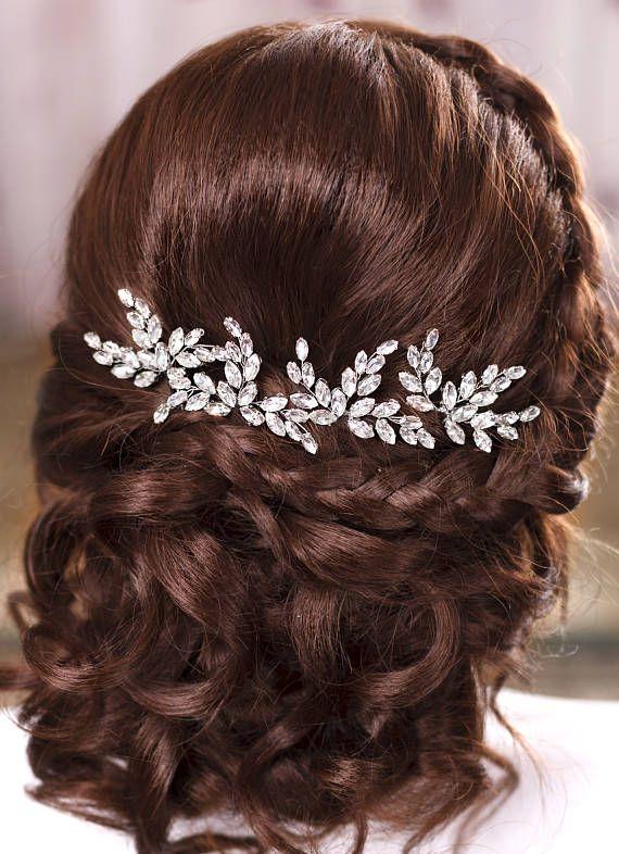 Bridal hair pins Crystal hair pins Wedding hair pins Wedding bobby pins Bridal h...