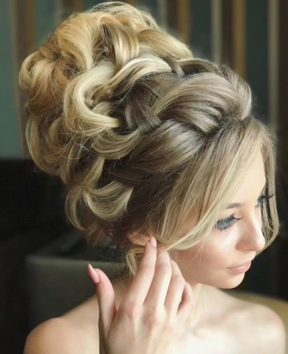 Featured Hairstyle: Websalon Wedding, Anna Komarova; www.websalon.su; Wedding ha...