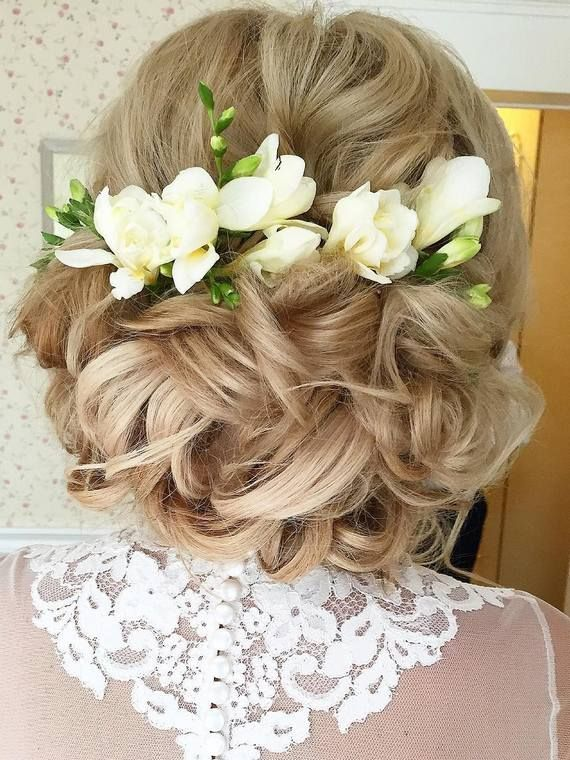 Long wedding hairstyles and wedding updos from Websalon Weddings / www.deerpearl...