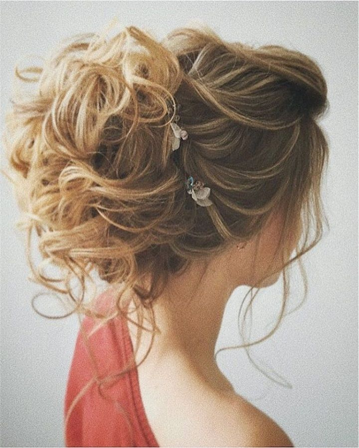 Messy Updo for Bridal Hair