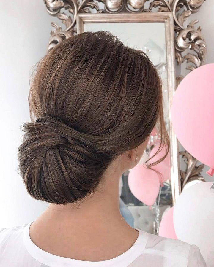 Sleek wedding hairstyle inspiration | elegant chignon bridal hairstyle ideas #we...