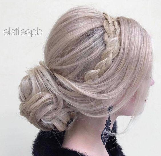 Wedding Hairstyle : Featured Hairstyle: Elstile; www.elstile.com; Wedding hairst...