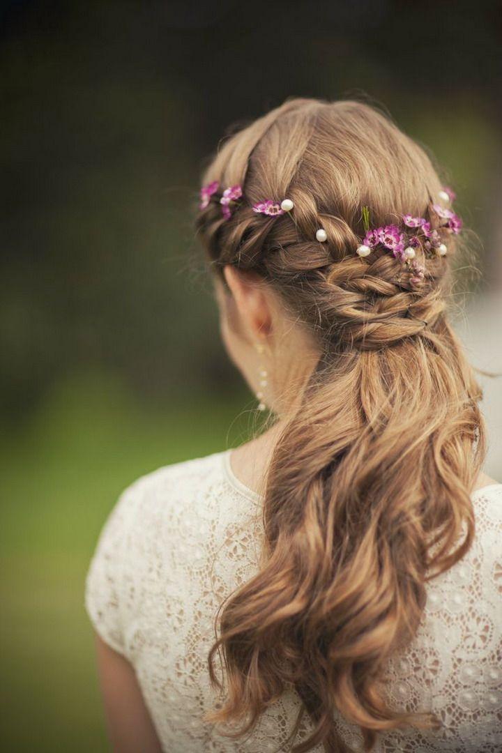 Wedding Hairstyles long hair flower crown,wedding hairstyle pictures, wedding ha...