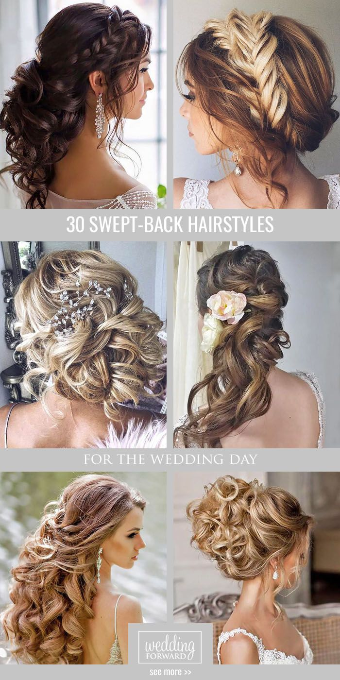 f2cd8a0f4c7 Killer Swept-Back Wedding Hairstyles ❤ If you are not sure which hairstyle  to.