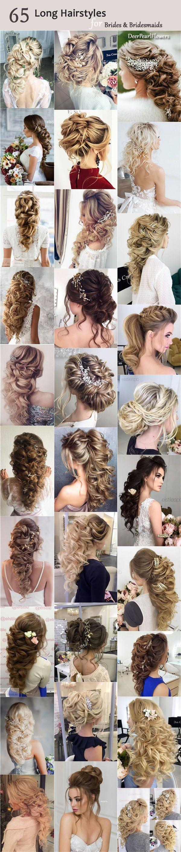 Long Wedding Bridesmaid Hairstyles & Bridal Updos via Elstile / www.deerpearlflo...