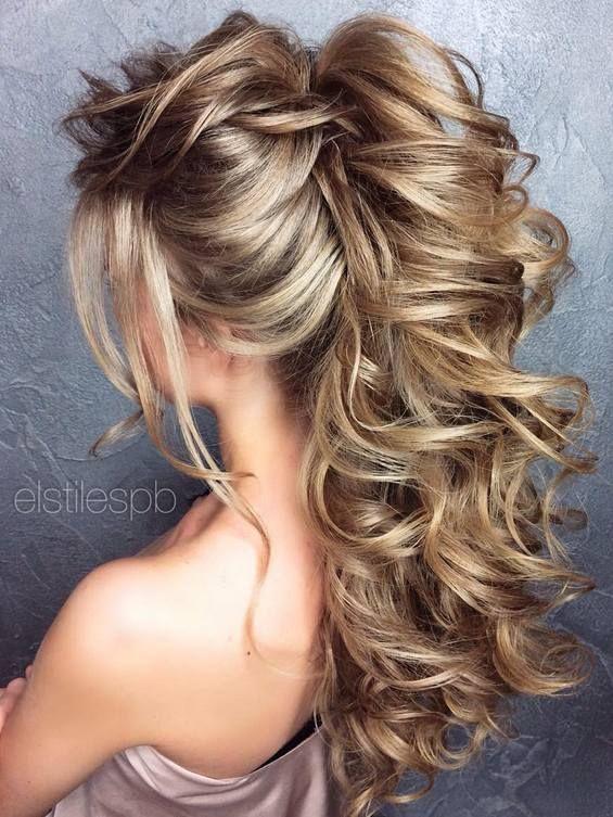 Long Wedding Hairstyles & Bridal Updos via Elstile / www.deerpearlflow...