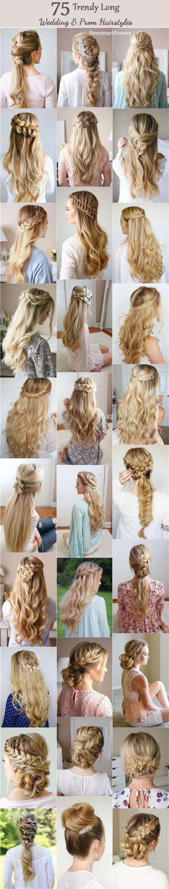 Long Wedding & Prom Hairstyles from Missysueblog / www.deerpearlflow...